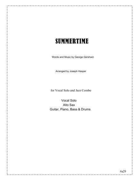 Summertime (Vocal and Jazz Combo)