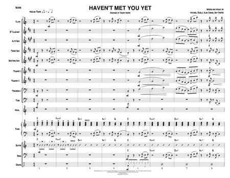 Haven't Met You Yet (Vocal Solo and Jazz Ensemble - score only)