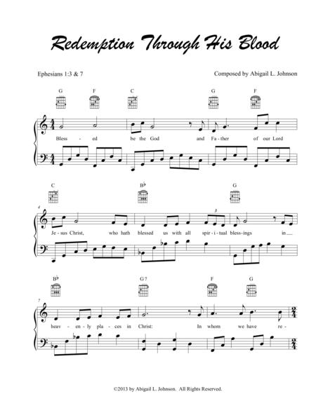 Redemption through His Blood - Bible Verse Song