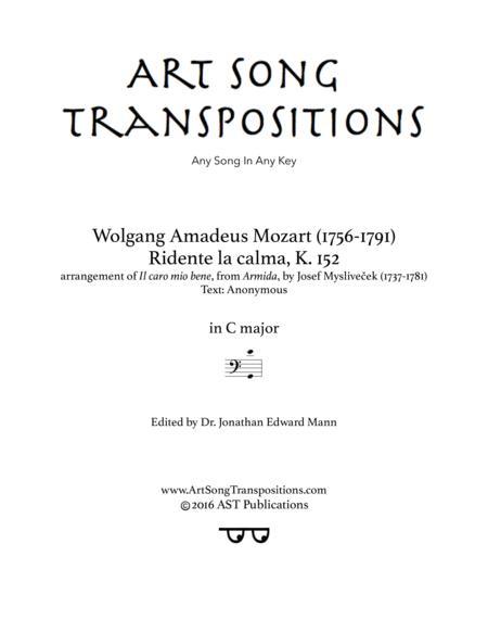 Ridente la calma, K. 152 (C major, bass clef)
