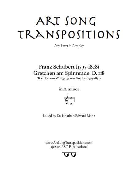 Gretchen am Spinnrade, D. 118 (A minor)