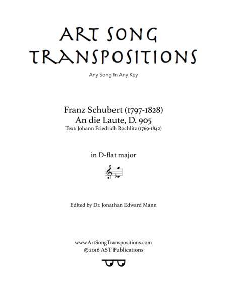 An die Laute, D. 905 (D-flat major)