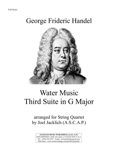 Water Music, Third Suite in G Major (for String Quartet)