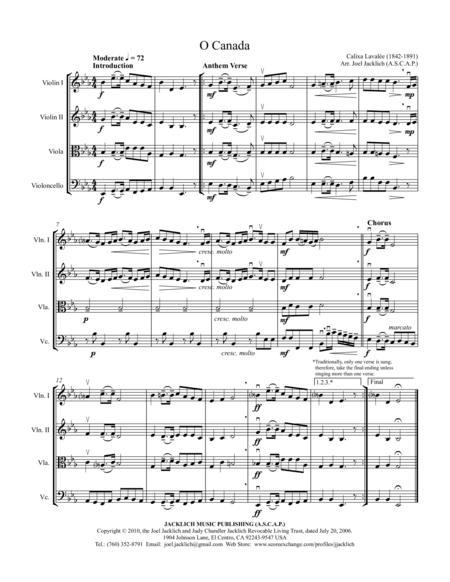 O Canada (String Quartet)