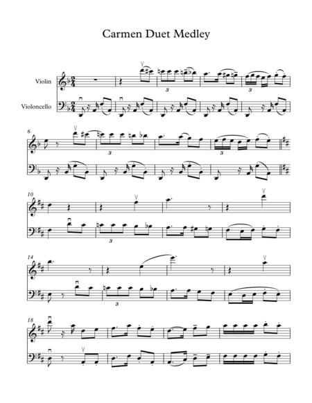Carmen Fantasy for Duet (Violin, Cello)
