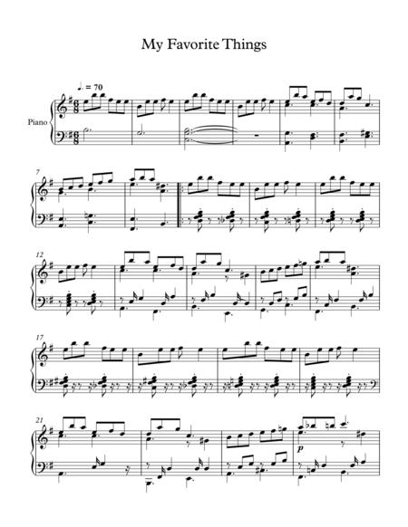 My Favorite Things (Jazz Piano ver.)