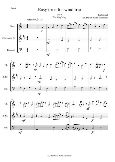 The King's Joy for wind trio (oboe, clarinet, bassoon)