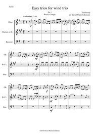 15 easy wind trios (oboe, clarinet, bassoon)