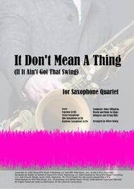 It Don't Mean A Thing (If It Ain't Got That Swing) for Saxophone Quartet