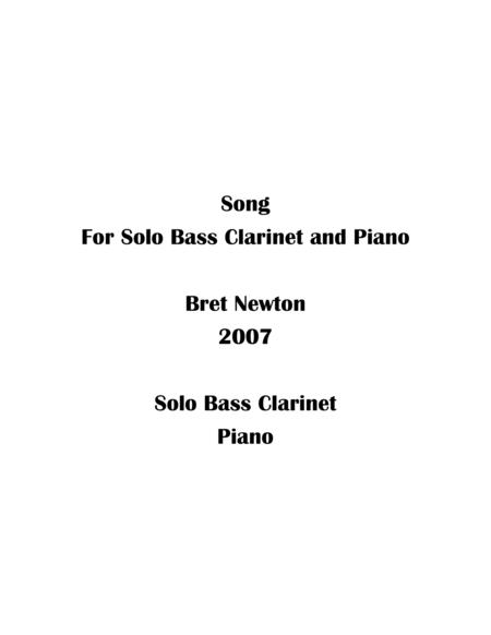 Song for solo Bass Clarinet and Piano