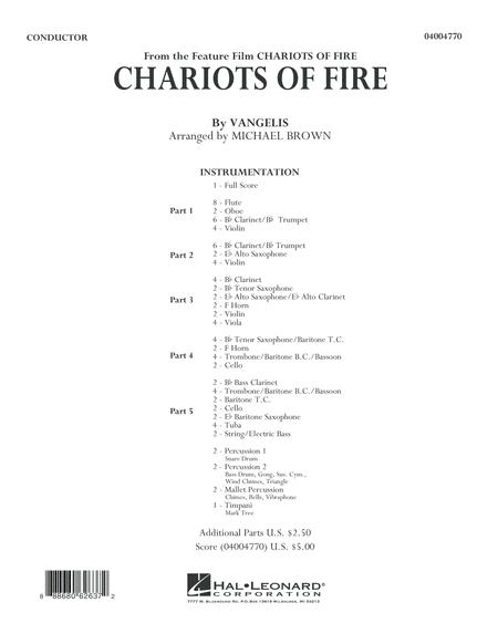 Chariots of Fire - Conductor Score (Full Score)