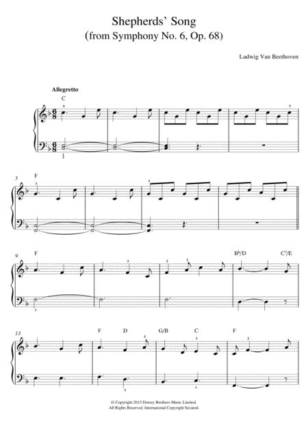 Shepherds' Song (from Symphony No. 6, Op. 68)