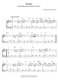 Rondo From Bassoon Concerto, K191