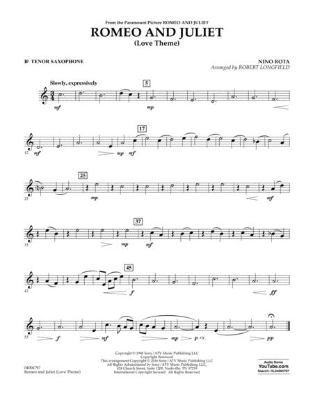Romeo and Juliet (Love Theme) - Bb Tenor Saxophone