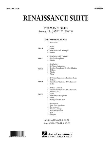 Renaissance Suite - Conductor Score (Full Score)