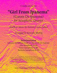The Girl From Ipanema (Garota De Ipanema) (for Saxophone Quartet SATB or AATB)