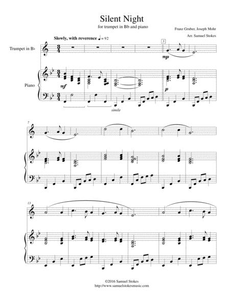 Silent Night - for trumpet and piano