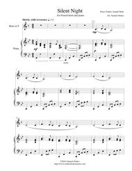 Silent Night - for French Horn and piano