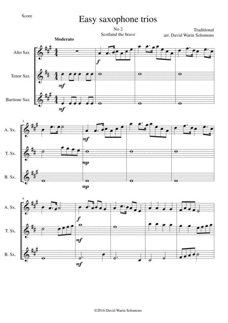 Scotland the Brave for saxophone trio