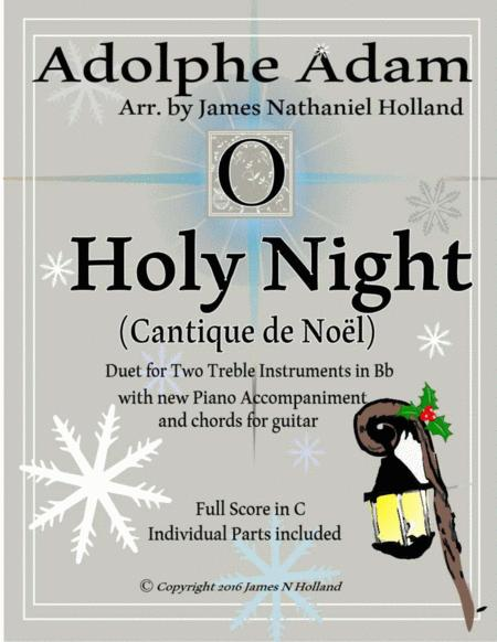 O Holy Night (Cantique de Noel) Adolphe Adam Duet for Treble Instruments in Bb