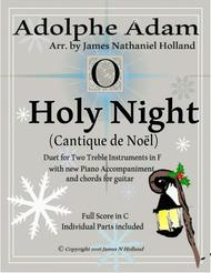O Holy Night (Cantique de Noel) Adolphe Adam Duet for Treble Instruments in F