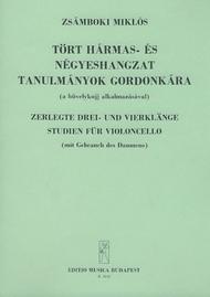 Zerlegte Drei- und Vierklange Studien (mit Gebra