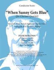 When Sunny Gets Blue (for Clarinet Quartet)