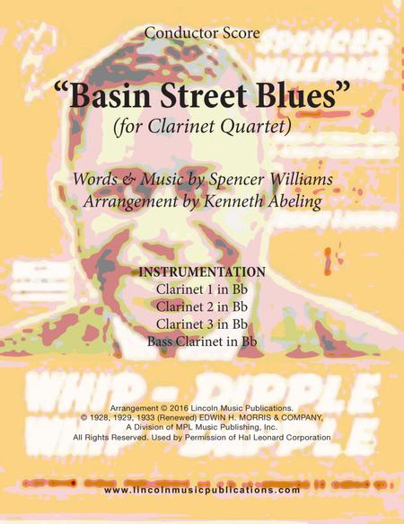 Basin Street Blues (for Clarinet Quartet)
