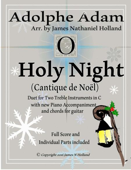 O Holy Night (Cantique de Noel) Adolphe Adam Duet for Treble Instruments in C