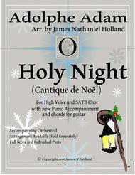 O Holy Night (Cantique de Noel) Adolphe Adam for High Voice and SATB Chorus