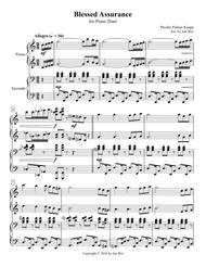 Blessed Assurance for Piano Duet