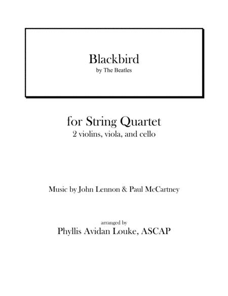Blackbird by The Beatles for STRING QUARTET
