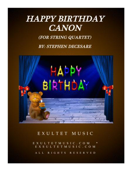 Happy Birthday Canon (for String Quartet and Piano)