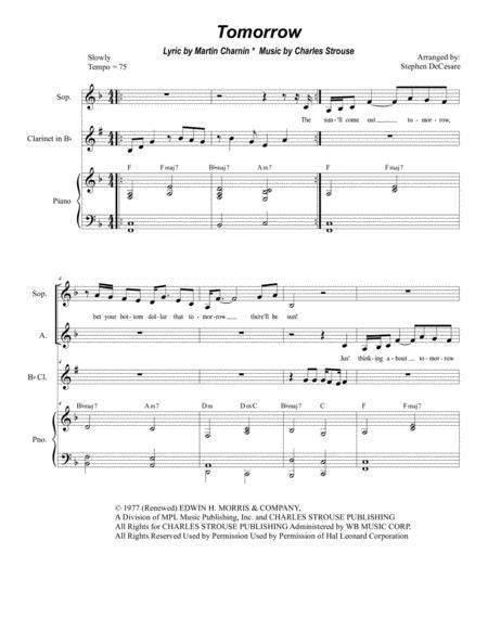Tomorrow (Duet for Soprano and Alto Solo)