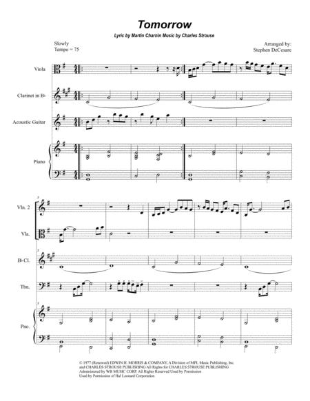 Tomorrow (for String Quartet and Chamber Orchestra)