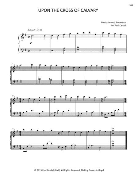 Download Upon The Cross Of Calvary Sheet Music By Leroy J Robertson