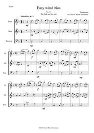 The Oak and the Ash (A North country maid) for wind trio (flute, oboe, bassoon)