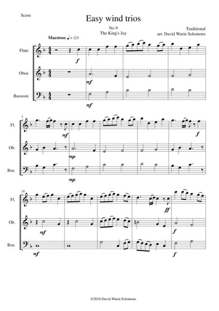 The King's Joy for wind trio (flute, oboe, bassoon)
