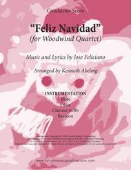 Feliz Navidad (for Woodwind Quartet)