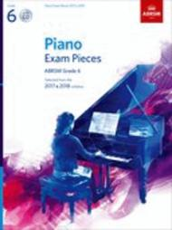Piano Exam Pieces 2017 & 2018, Grade 6, with CD