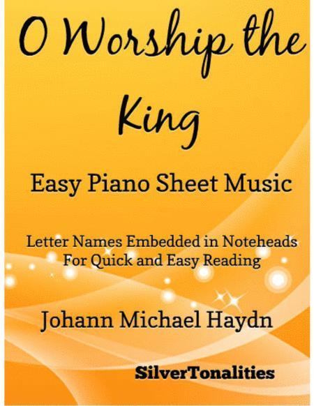 O Worship the King Easy Piano Sheet Music