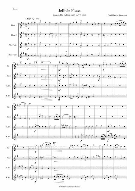 Jellicle Flutes for flute quartet