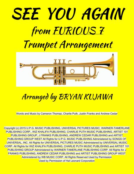 See You Again from FURIOUS 7 - Trumpet Solo