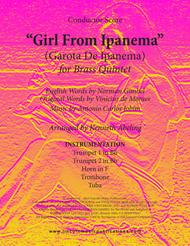 The Girl From Ipanema (Garota De Ipanema) (for Brass Quintet)