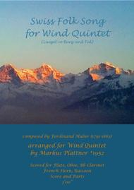 Swiss Folk Song for Wind Quintet