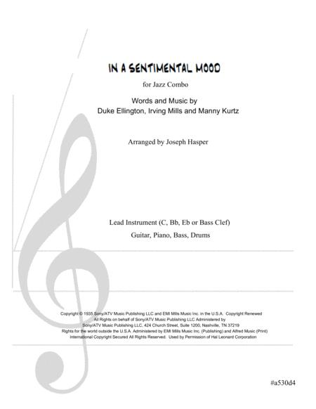 In A Sentimental Mood (Basic Jazz Combo)