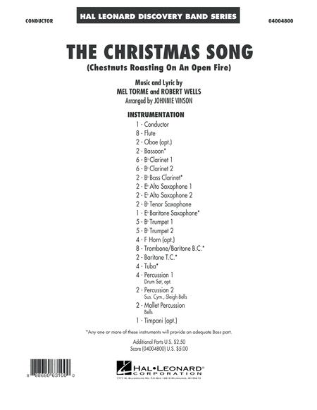 The Christmas Song (Chestnuts Roasting on an Open Fire) - Conductor Score (Full Score)