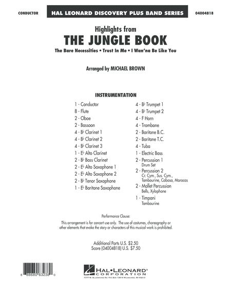 Highlights from The Jungle Book - Conductor Score (Full Score)