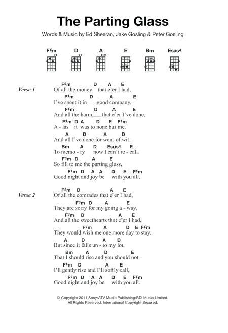 Download The Parting Glass Sheet Music By Ed Sheeran Sheet Music Plus