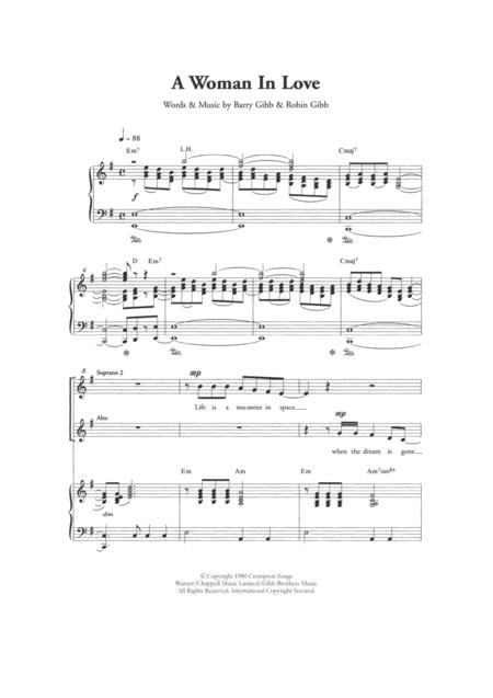 A Woman In Love (Arr. Berty Rice)